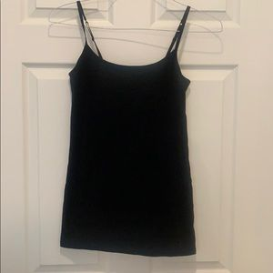 Black cotton tank too
